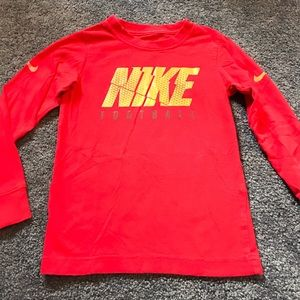 Nike football long sleeve tee size 4